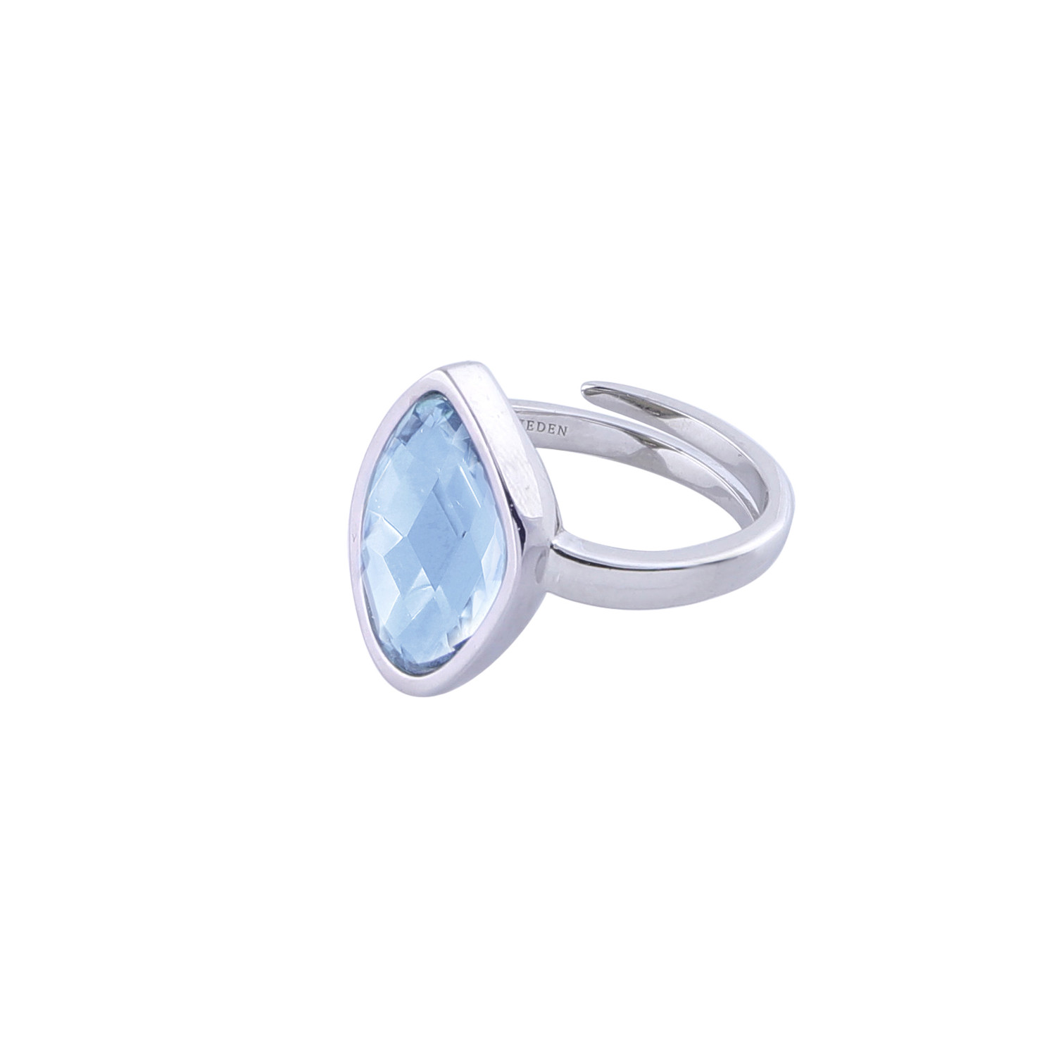 Ring-silver-blue