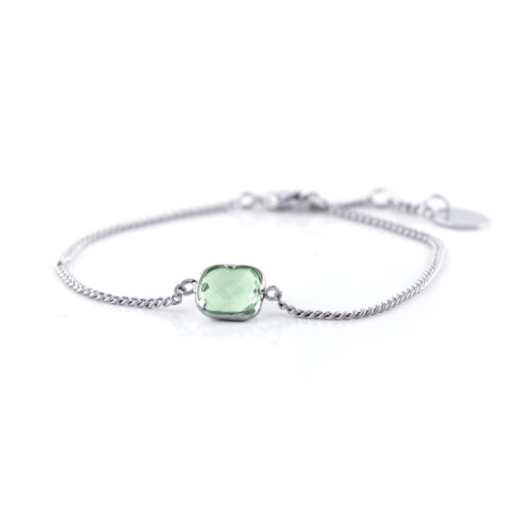 green armband one piece silver