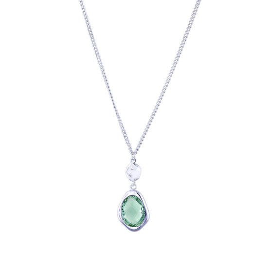 green-snowdrop-necklace-silver
