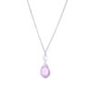 pink-snowdrop-necklace-silver