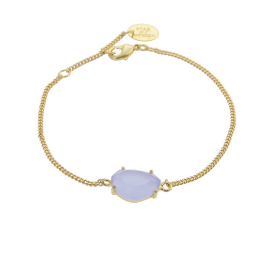 Gold bracelet with blue stone