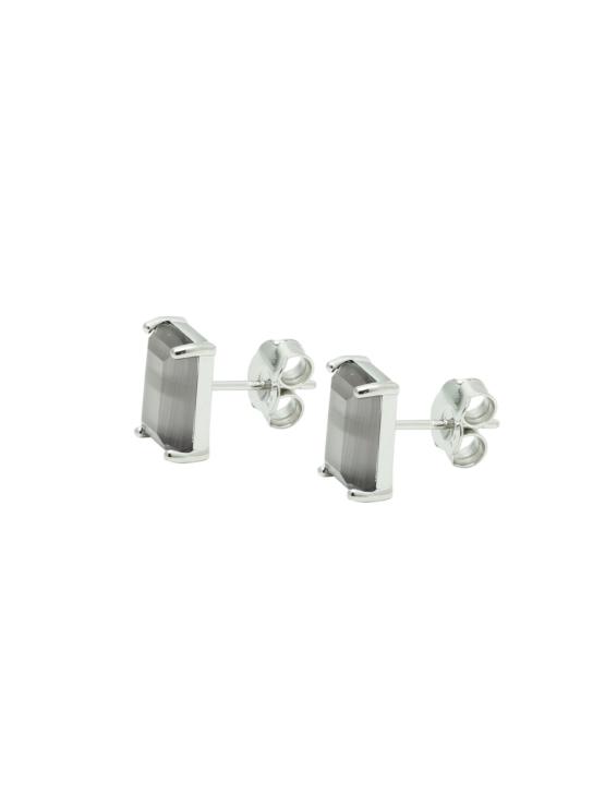 Studs | Örhängen i silver med grå sten