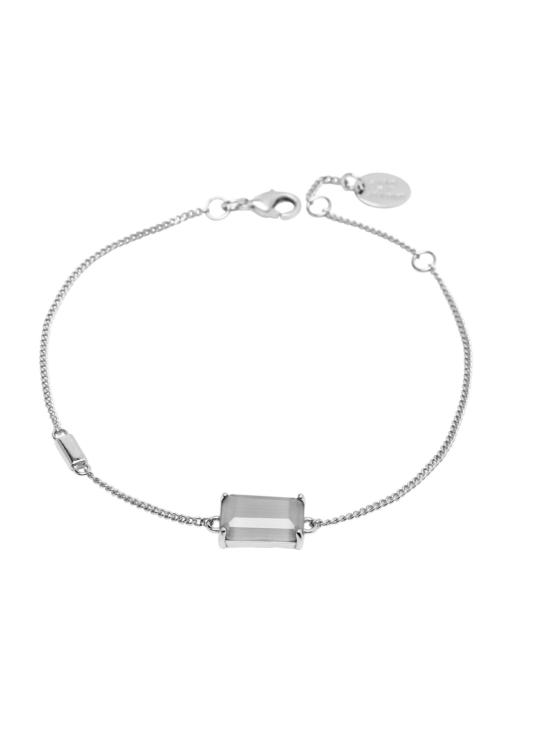 Armband i silver med grå sten