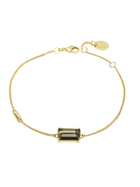 Armband i guld med brun sten